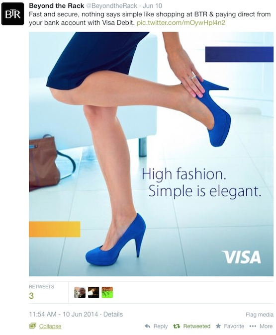 Visa : Below the Rack, Twitter
