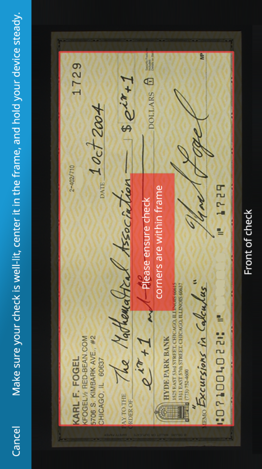 my check, image vertical